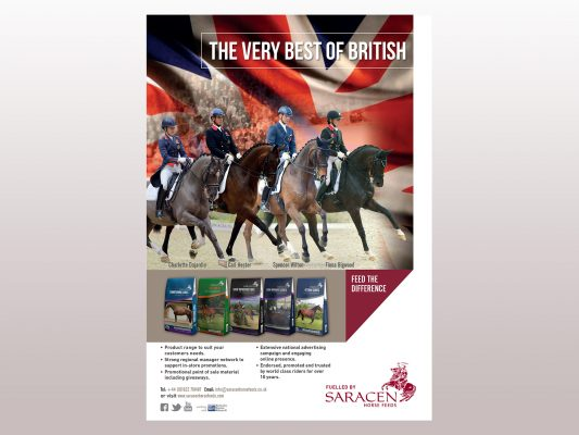 Saracen Horse Feeds The Very Best of British Magazine Advert