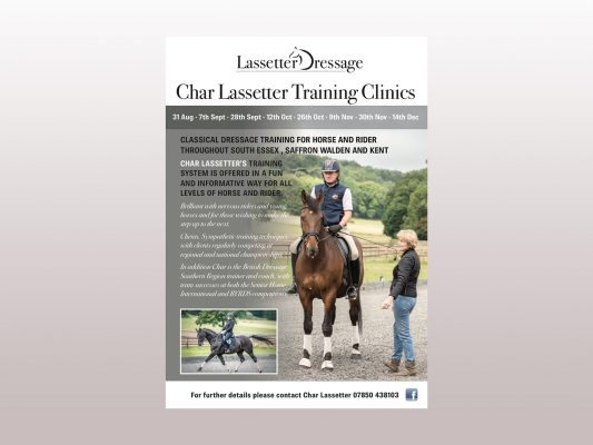Lassetter Dressage Clinic Flyer example